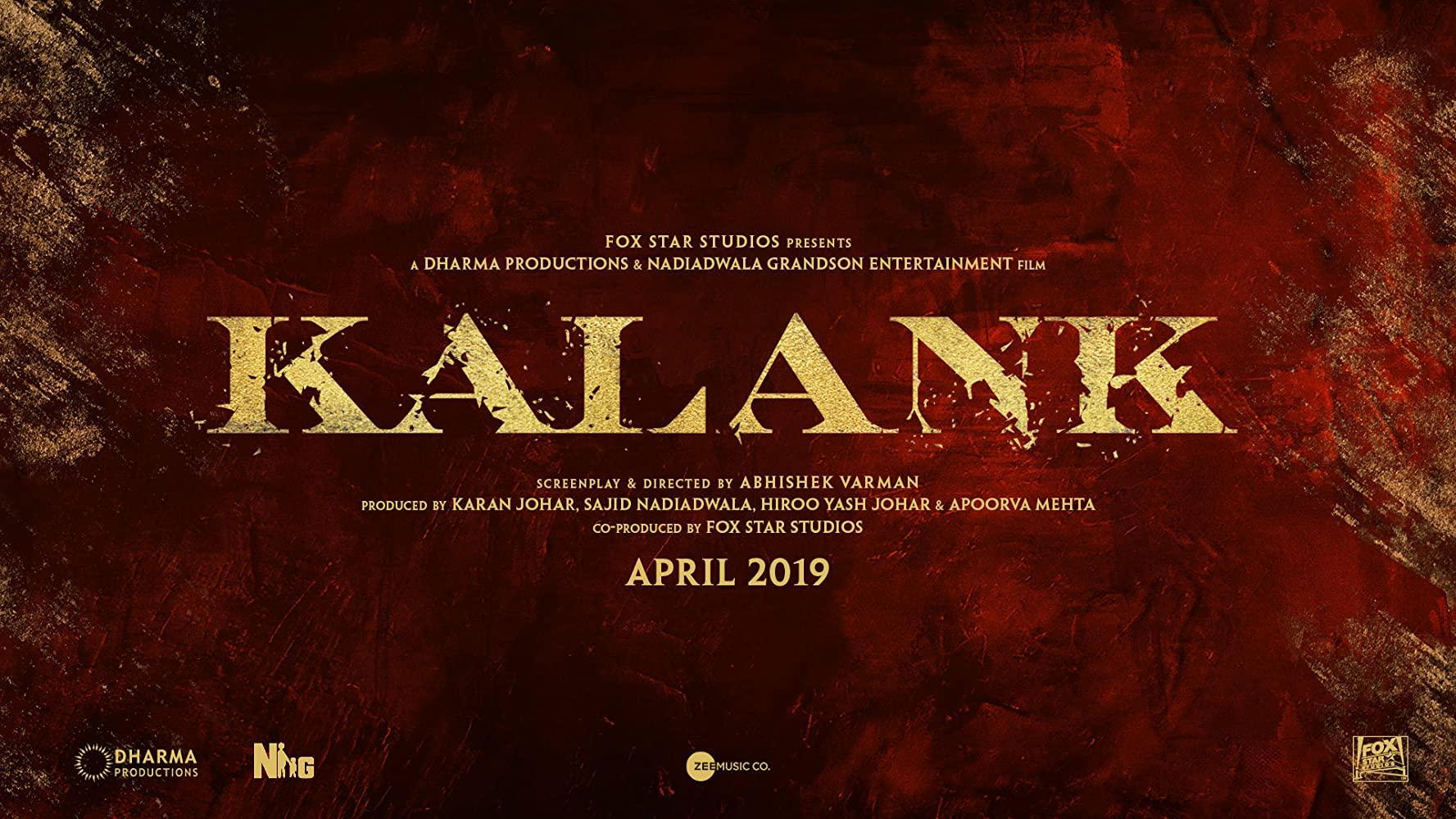 مشاهدة فيلم Kalank (2019) مترجم HD اون لاين